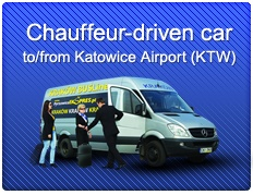 Car or bus with chauffeur from the Katowice Airport