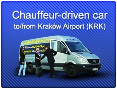 Car or bus with chauffeur from the Balice Airport
